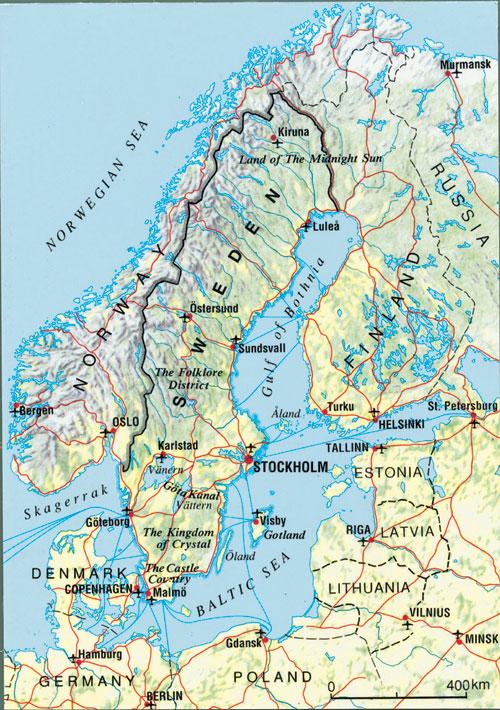 karte skandinavien Skandinavien Karte   Skandinavien Karte